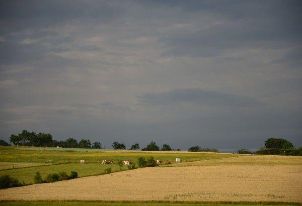 Blick von unserem Grundstück Richtung Südwesten