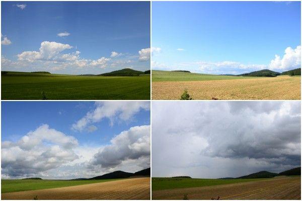 Fensterblick im Mai, Juni, Juli, August