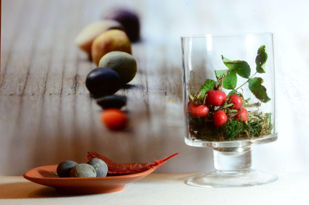 Granatapfel oder hagebutte judika for Glaspokal deko